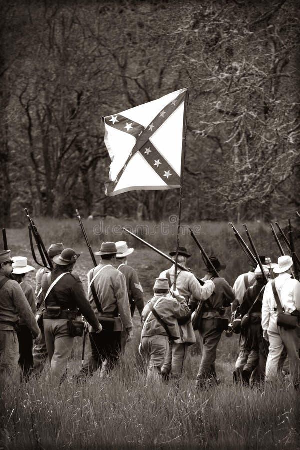 Guerra civile Reenactors fotografie stock libere da diritti