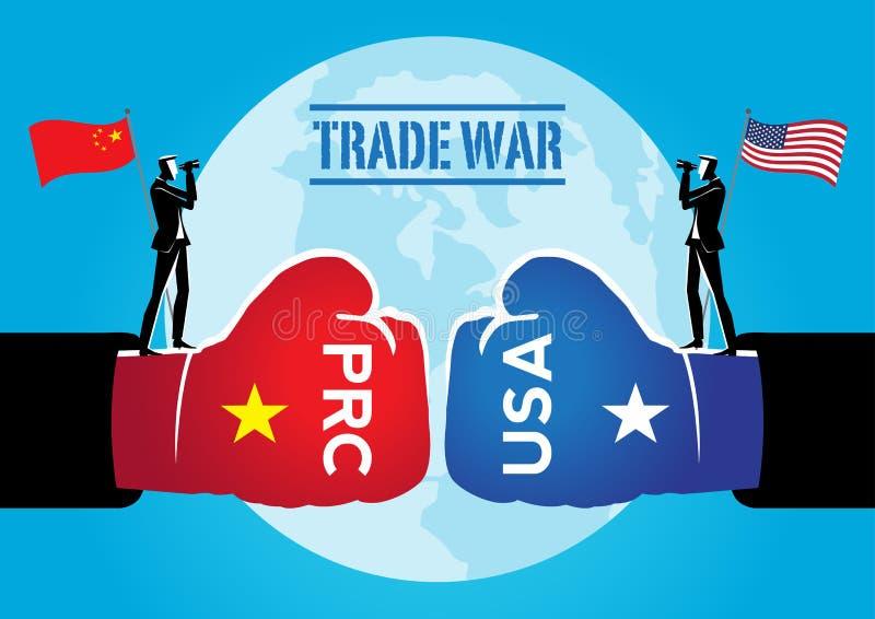 Guerra comercial em tarifas ilustração do vetor