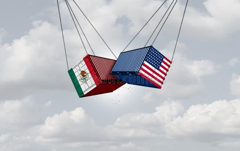 Guerra commerciale di U.S.A. Messico royalty illustrazione gratis