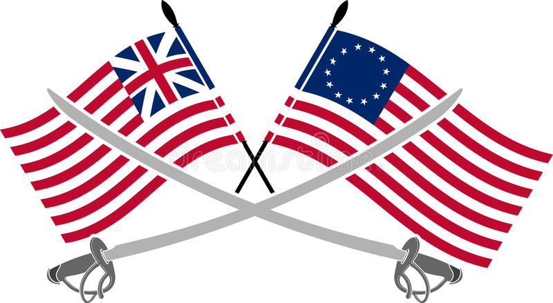Guerra da independência americana ilustração royalty free