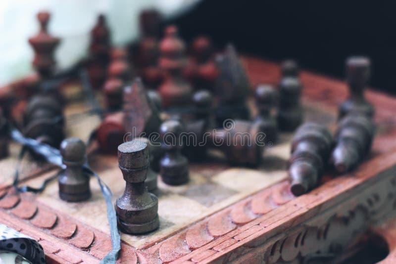 Guerra da xadrez fotografia de stock royalty free