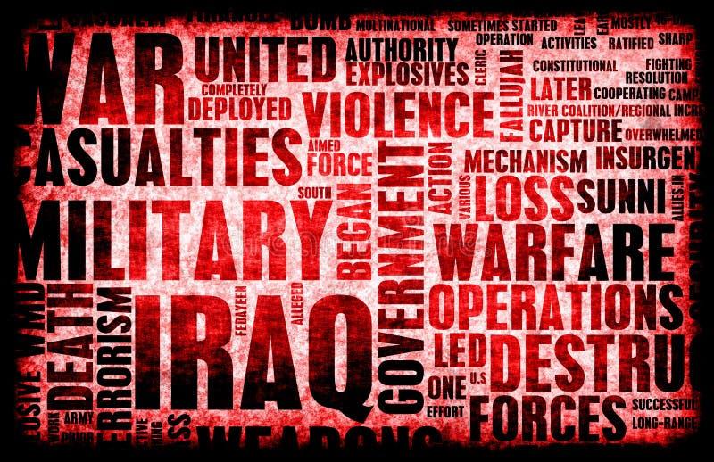 Guerra de Iraque ilustração do vetor