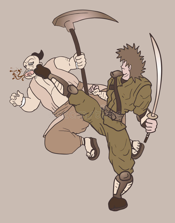 Guerra de la escena stock de ilustración
