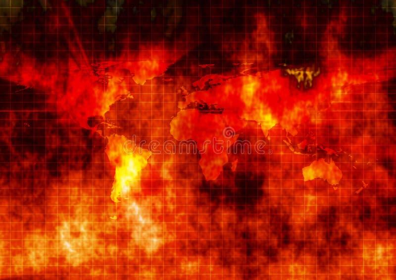 Guerra de mundo imagens de stock