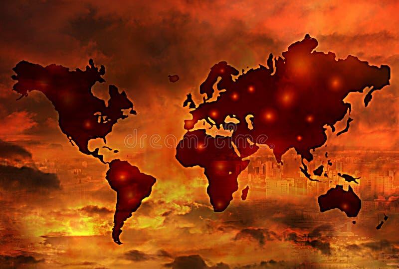 Guerra de mundo ilustração do vetor