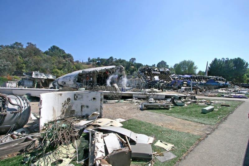 Guerra del accidente de avión de los mundos fotos de archivo