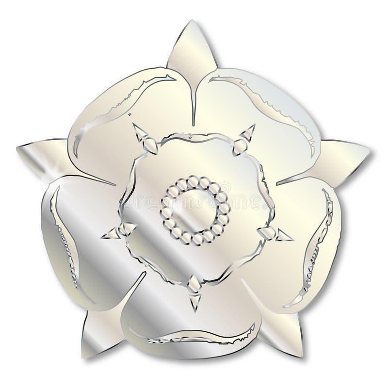 Guerra del icono del metal de las rosas stock de ilustración