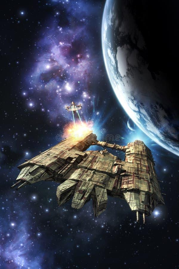 Guerra do espaço ilustração stock