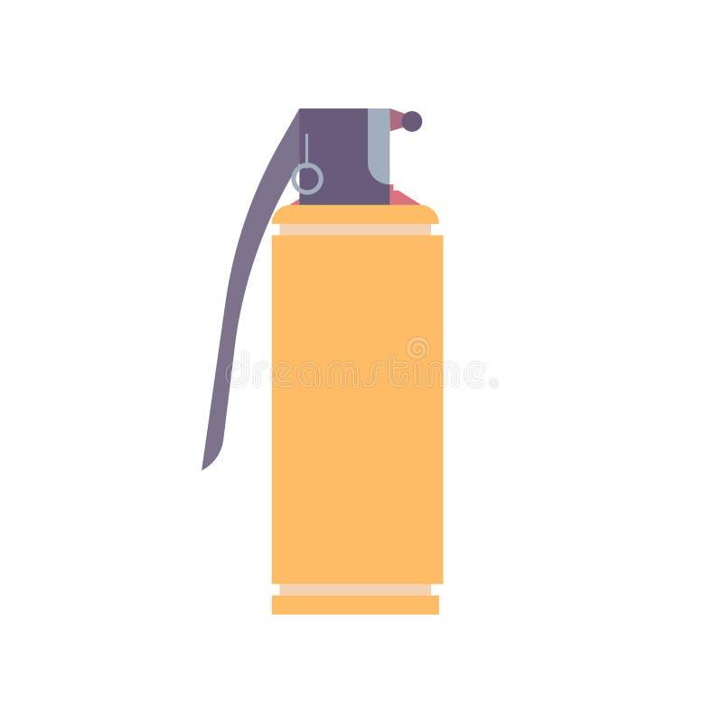 Guerra do golpe da ilustração da explosão do flash do ícone da bomba do vetor da granada ilustração royalty free