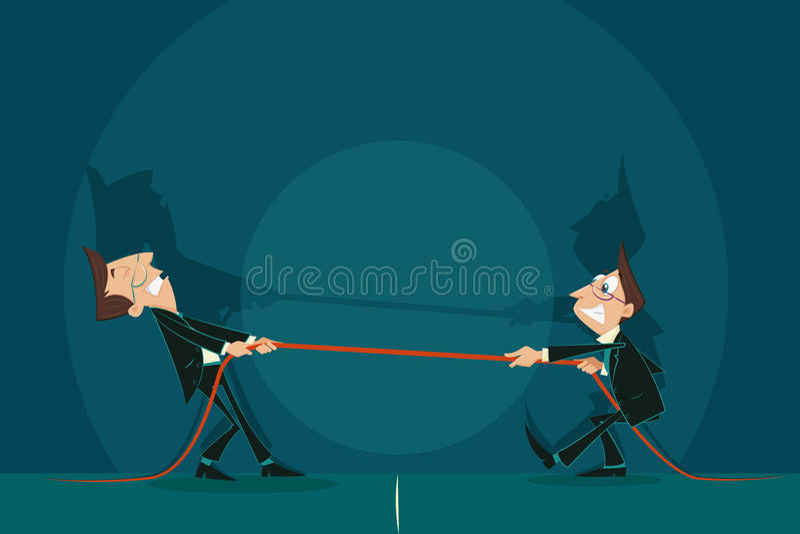 Guerra do negócio ilustração do vetor