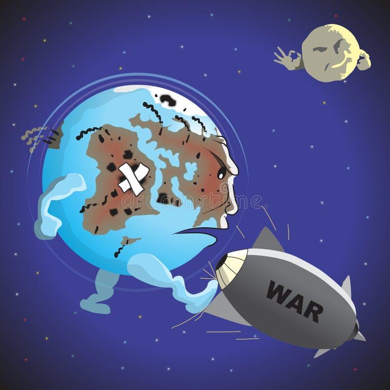 Guerra e paz ilustração stock