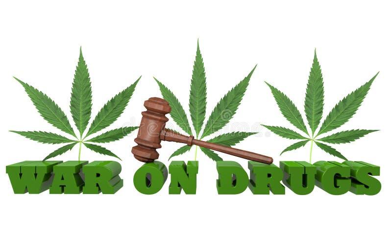 Guerra en las drogas ilustración del vector