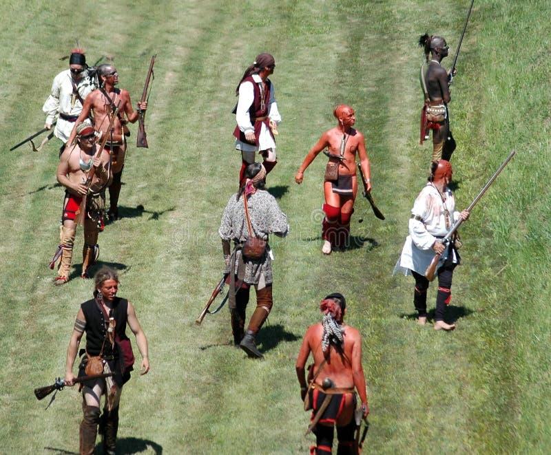 Guerra francesa y de indio imagen de archivo
