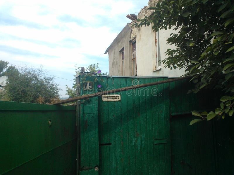 Guerra in Lugansk immagine stock