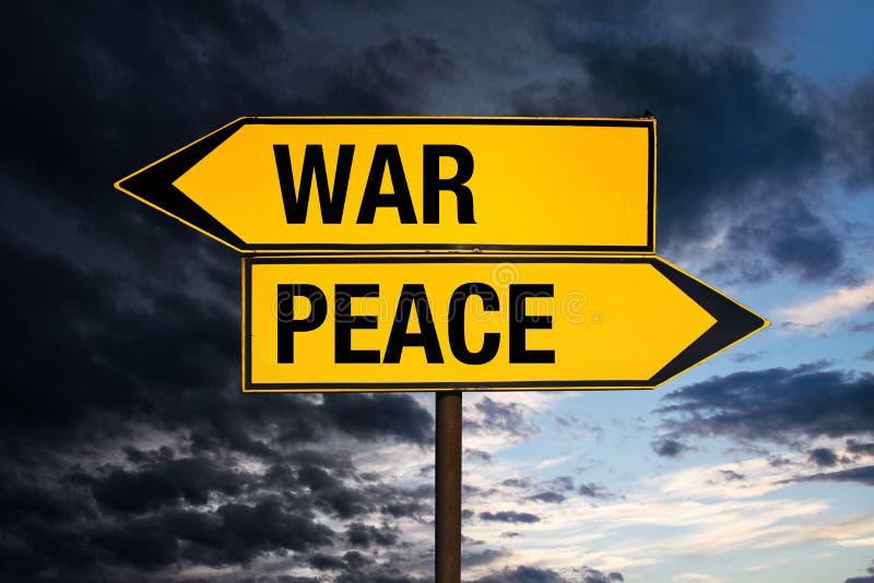 Guerra o pace immagine stock libera da diritti