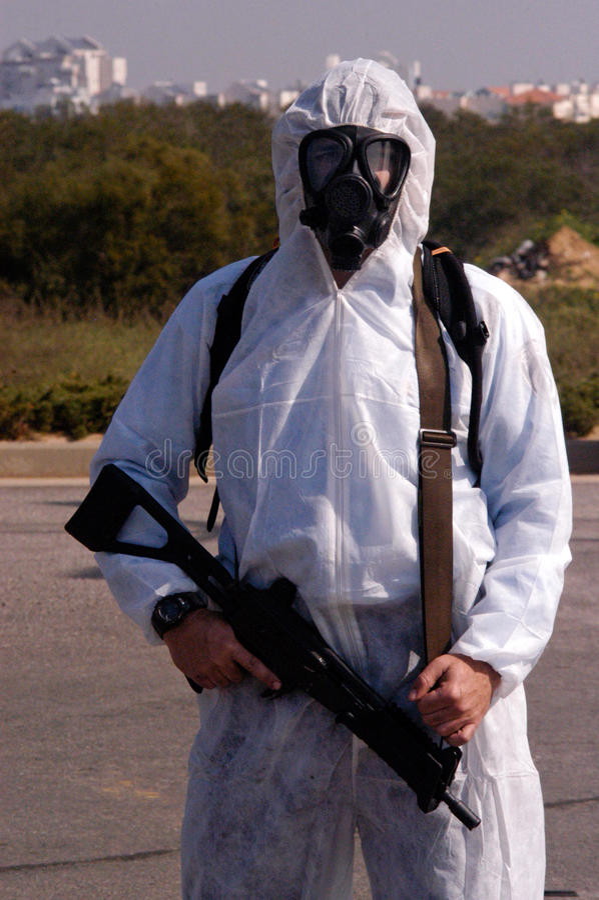Guerra química e biológica fotos de stock