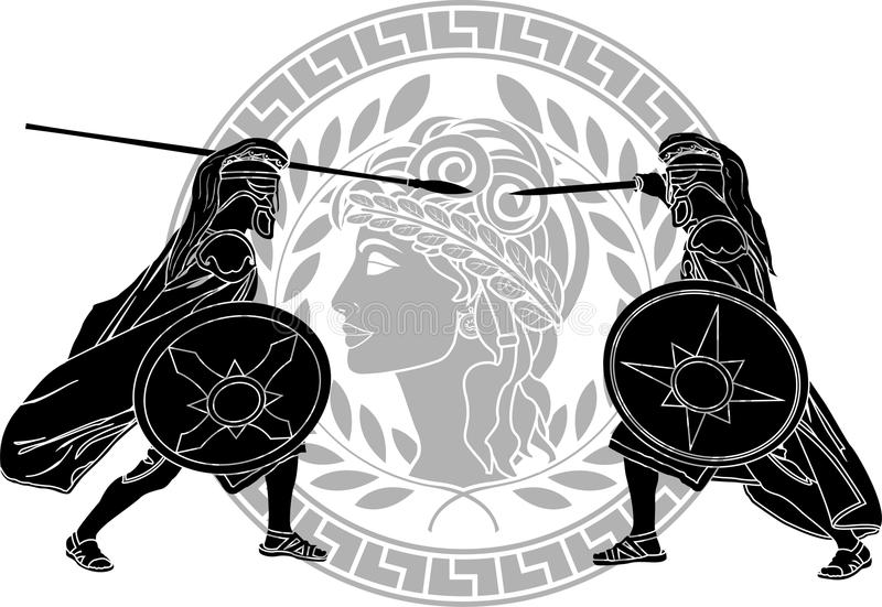 Guerra Trojan stock de ilustración