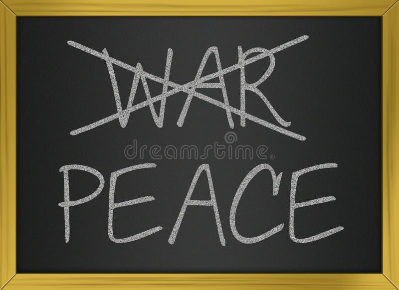 Guerra y paz stock de ilustración