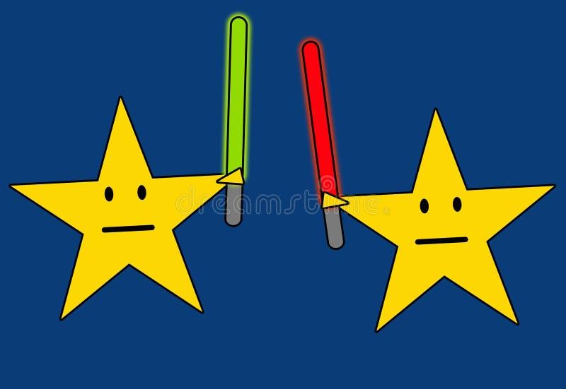 Guerras de las Galaxias stock de ilustración