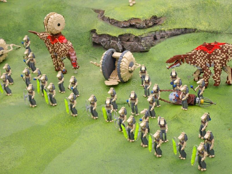 Guerras do clone de Lego fotografia de stock royalty free