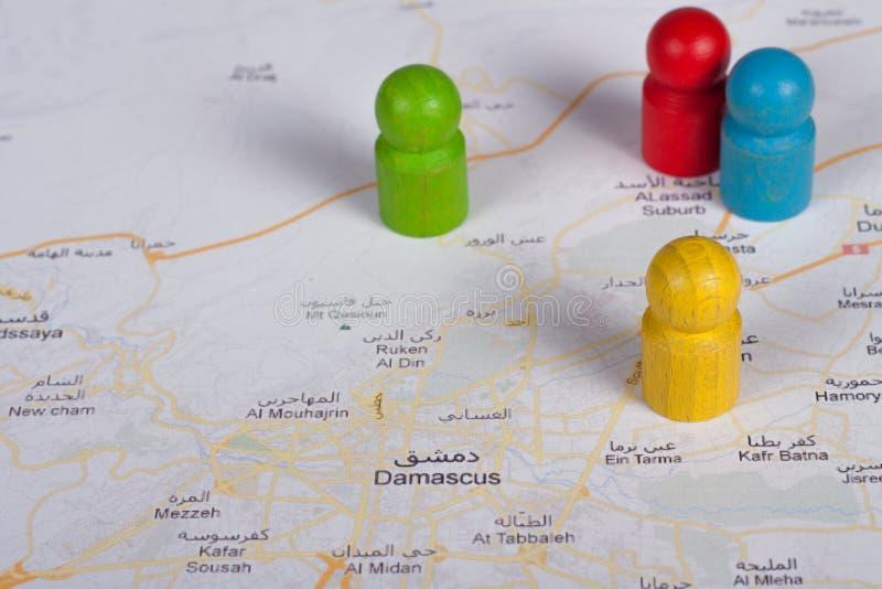 Guerre à Damas images libres de droits
