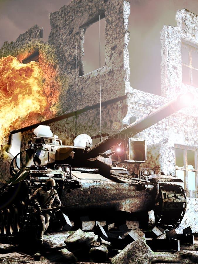 Guerre illustration libre de droits