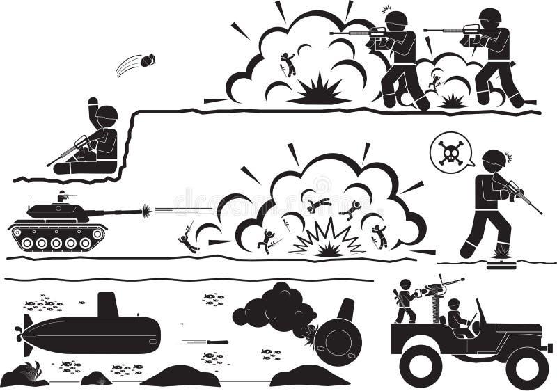Guerre illustration de vecteur