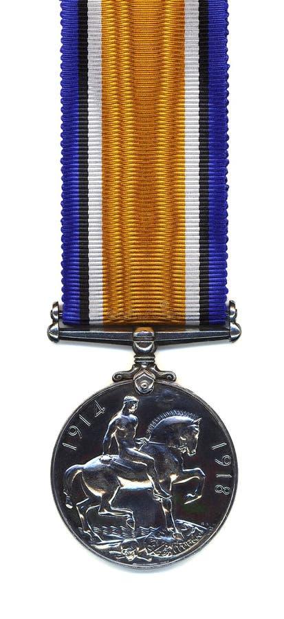 Guerre britannique Medal, 1914 - 18 (arrière) photographie stock libre de droits