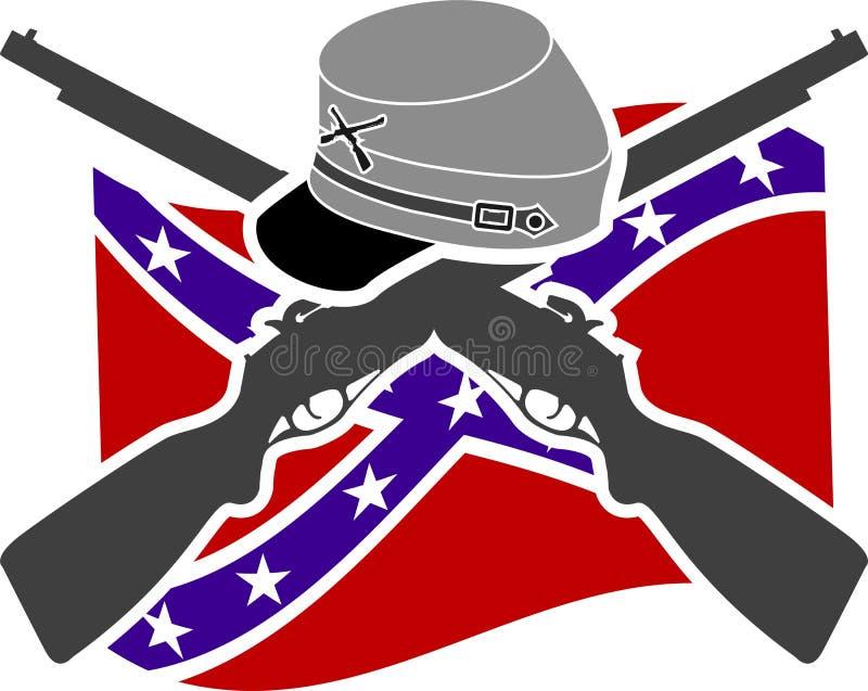 Guerre civile américaine illustration libre de droits