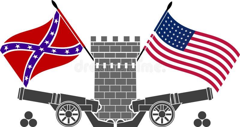 Guerre civile américaine illustration de vecteur