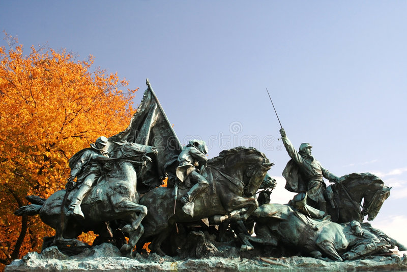 guerre civile de statue photos stock