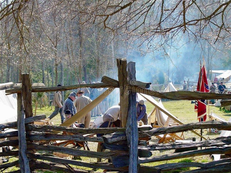 Guerre civile re-enactors en Caroline du Nord photos stock