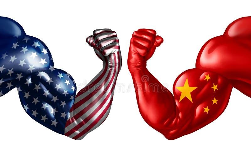 Guerre commerciale de la Chine illustration libre de droits