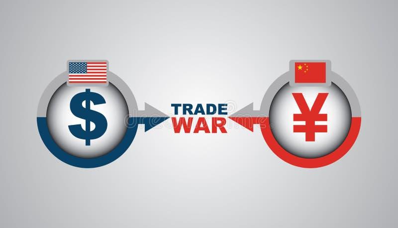 Guerre commerciale de la Nous-Chine - illustration économique illustration libre de droits