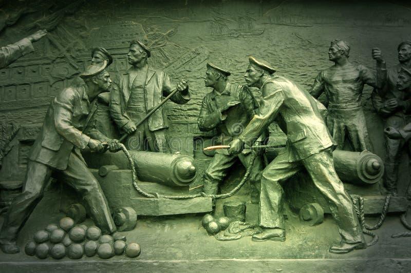 guerre criméenne de Sébastopol de monument de groupe image stock