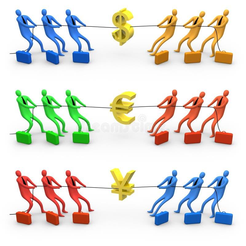 Guerre d'économie illustration stock