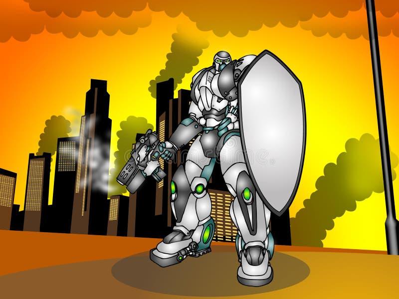Guerre de Droid illustration de vecteur