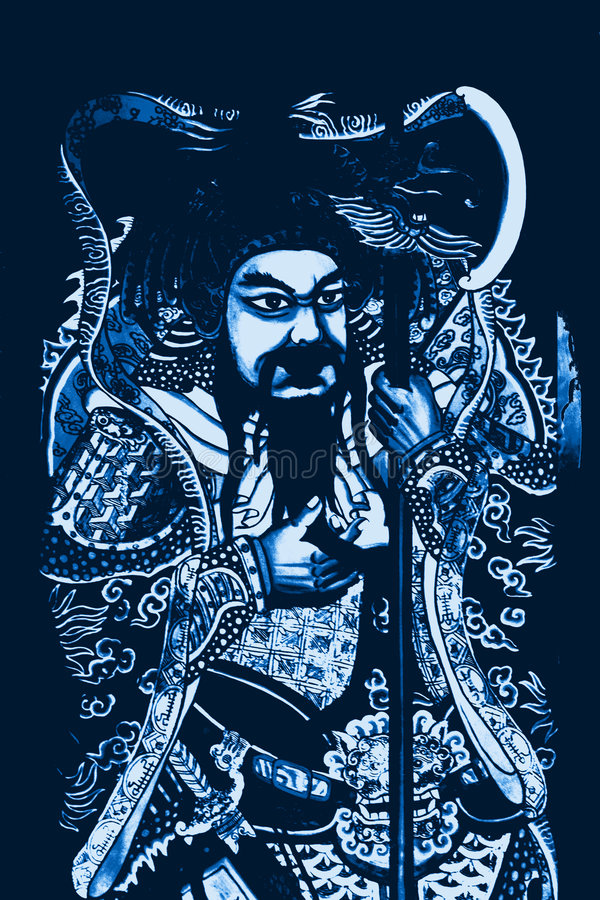 guerre guan de gong chinois d'un dieu illustration stock