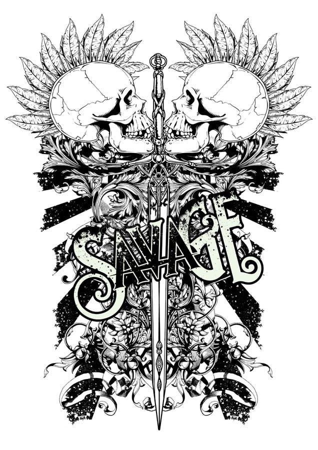 Guerre punk illustration stock