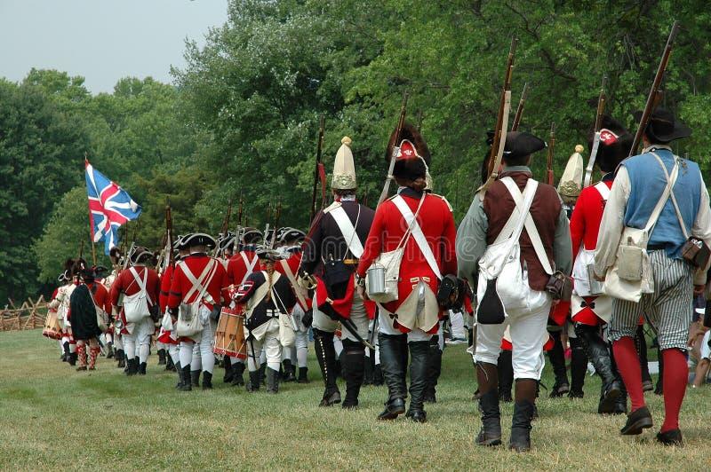 Guerre révolutionnaire de l'indépendance - préparez pour le buttle photographie stock