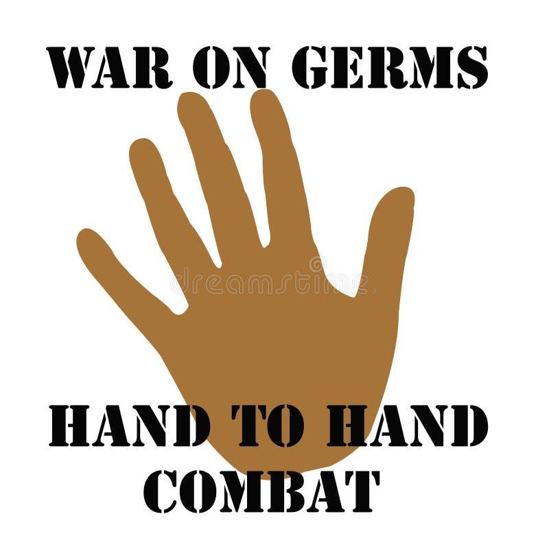Guerre sur des germes illustration de vecteur