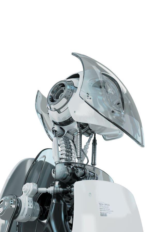 Guerreiro à moda futurista ilustração stock