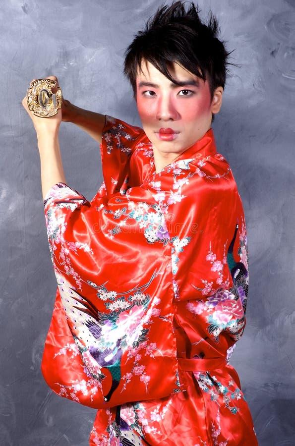 Guerreiro asiático fotografia de stock