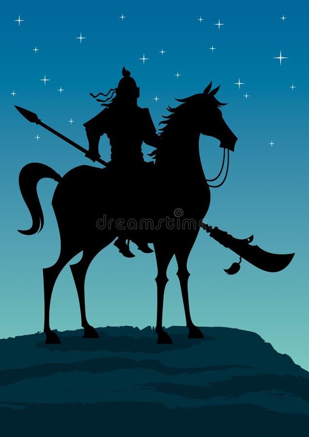 Guerreiro chinês 3 ilustração royalty free