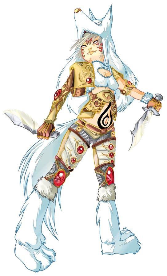 Guerreiro de Amazon   ilustração do vetor