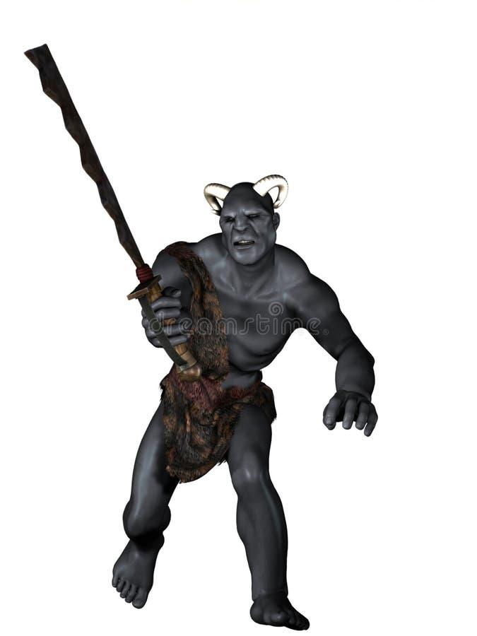 Guerreiro de Orc ilustração royalty free