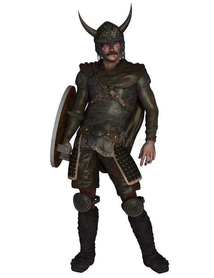 Guerreiro de Viking isolado ilustração royalty free
