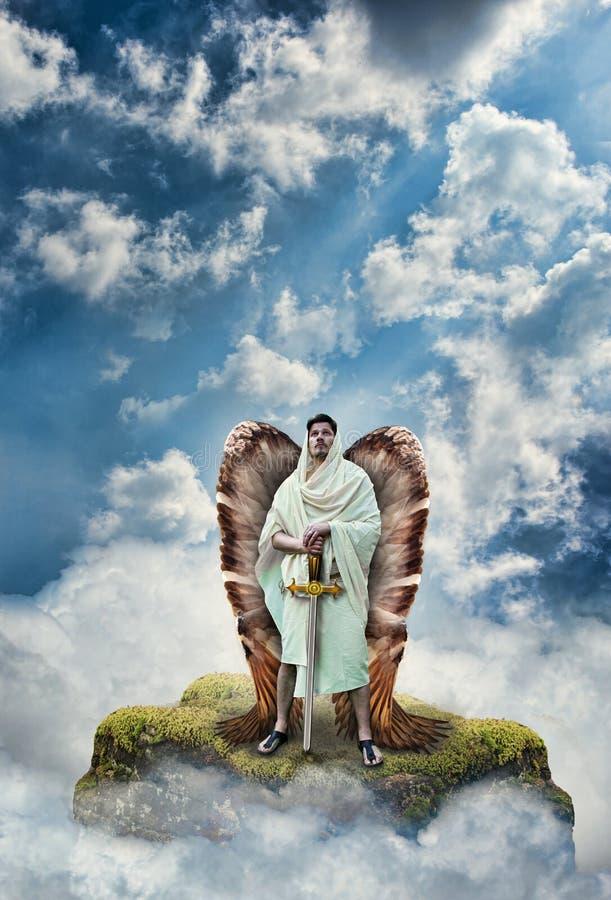 Guerreiro do anjo fotografia de stock