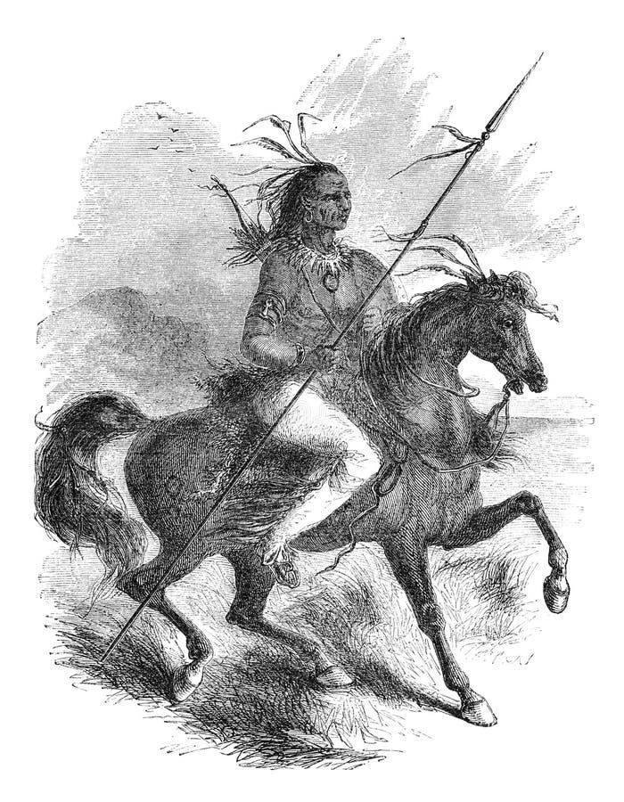 Guerreiro do Comanche ilustração royalty free
