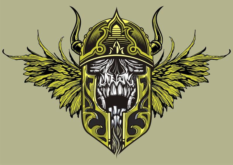 Guerreiro do crânio ilustração do vetor